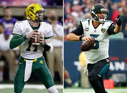 wentz and bortles both have big frames and live arms and both are good athletes