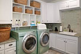 view in gallery built in laundry room shelving