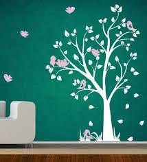pvc vinyl white tree wall sticker by decor kafe