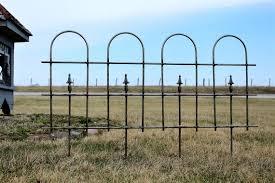 lg wrought iron garden border edging