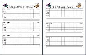Printable Baby Schedule Chart Car Interior Design 4 Month