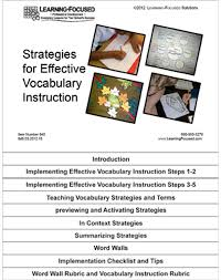 Common Core Standards And Strategies Flip Chart Flip Chart Effective Vocabulary Instruction