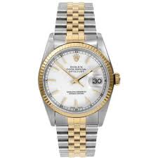 rolex watches overstock com the best prices on designer mens pre owned rolex men s datejust two tone automatic watch