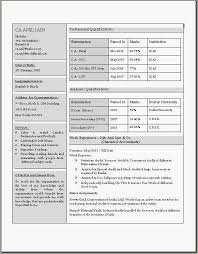 Acca Affiliate Resume Sample Format For Fresher Students In Word