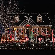 15 Colorful and Outrageously-Themed Outdoor Christmas Lights.