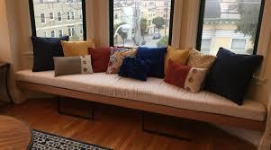 Kitchen Bay Window Seating Trapezoid Cushion Custom Cushion Bay Window Seat Cushion