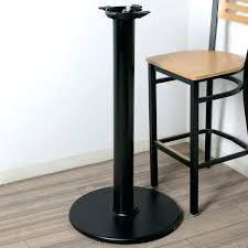 round pub height table table seating black round bar height table base 4 column bar height