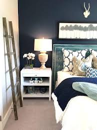 bedroom decor blue indigo decorating ideas blue feature wall navy blue and white bedroom decor