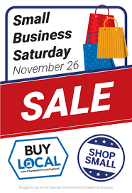 sales for small business small business saturday special offers chamber ect