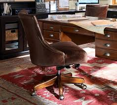 leather swivel office chair. Hayes Tufted Leather Swivel Desk Chair Office H