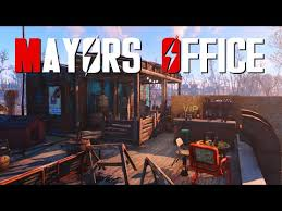 fallout 4 settlement build boxcar mayors office build office video