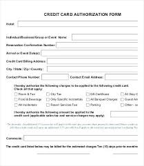 Credit Card Payment Template 1 Credit Card Authorization Form