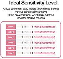 Pregnancy Test Sensitivity Chart 2017 Easy Home Pregnancy Test Strips For Early Detection Fertility Test Kit 20 Hcg Tests Powered By Premom Ovulation Predictor Ios And Android App New