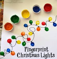 Christmas Crafts For Kids Christmas Winter Fingerprint Craft Ideas For Kids Light Crafts