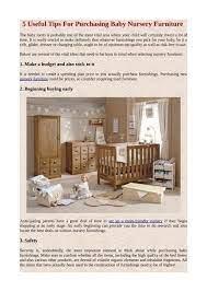 purchasing baby nursery furniture