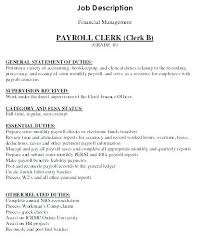 Payroll Clerk Job Description For Resume Dispatcher Job Description