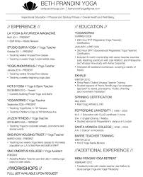 Yoga Teacher Resume Free Yoga Teacher Resume Template Mbm Legal