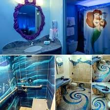 The Little Mermaid Bedroom Ideas Little Mermaid Bathroom Mermaid Bedroom  Decorations