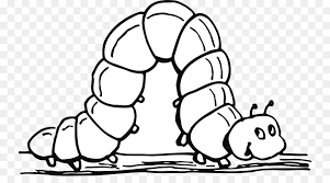 clip art coloring book image drawing black and white cartoon worm transpa