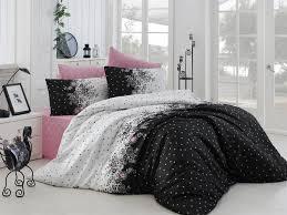 roxy single quilt cover set es 164nzq18232 black white pink