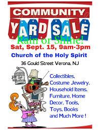Sep 15 Community Yard Sale Montclair Nj Patch