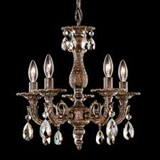 schonbek lighting 5662 74s milano 5 light candle style chandelier parchment bronze