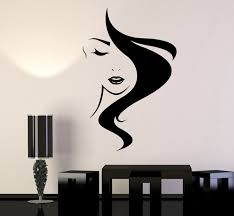 beauty hair vinyl wall decal salon studio girl hairdresser stickers unique gift 825ig on
