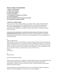 How To Format A Formal Letter Business Letter Writing Format Formal Example Sample 8 Pdf