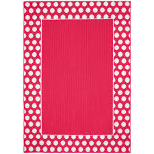 garland rug polka dot frame pink white 5 ft x 7 ft area