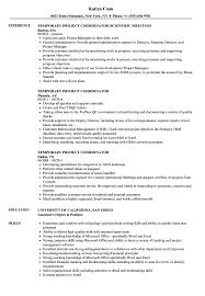 Project Administrator Resume Examples Temporary Coordinators Velvet
