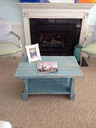 Read this question and answer guide to distressed finish coffee. Turquoise Distressed Coffee Table For Sale 150 Distressed Furniture Diy Distressed Coffee Table Shabby Chic Furniture