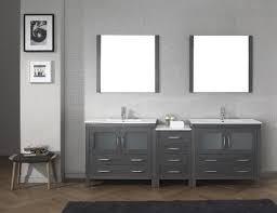 gray double sink vanity. virtu usa dior 90 double bathroom vanity set in zebra grey gray sink n