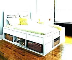 King Size Storage Bed Frame Ikea California Platform Jersey With ...