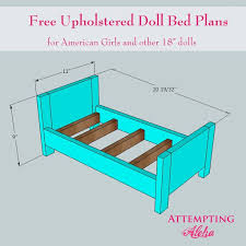 free dollhouse furniture patterns. Wooden Doll Bed Plans DIY Blueprints Upholstered American Girls Emailed These To My Husband Make It For Around Thirty Free Dollhouse Furniture Patterns S