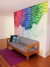 decorate wall with paint samples lovely best 25 paint chip wall ideas on