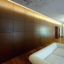 wood panel wall decor modern interior design sculpture art ideas