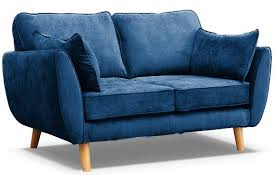 connection zinc blue fabric 2 seater