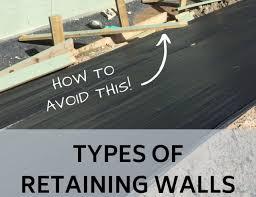 types of retaining walls balance