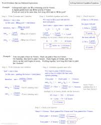 math plane solving rational equations with fractions and decimals worksheet solving rational equations notes and examples