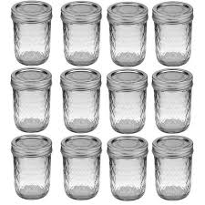 ball quilted crystal jelly jars vintage. kerr 8 oz quilted crystal jelly jars, 12 jars ball vintage