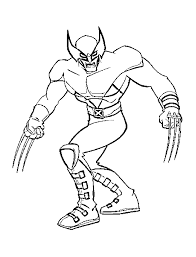 Small Picture wolverine coloring pages printable 100 images wonderful vs