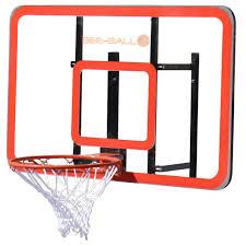 bee ball zy 022 heavy duty professional basketball backboard wall mount hoop net