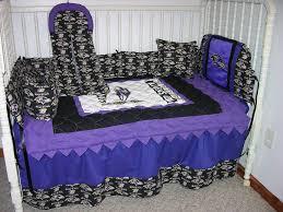 crib nursery bedding set made w baltimore ravens w