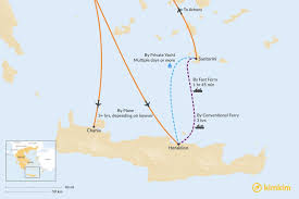 santorini to crete best routes