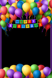 happy birthday frame png clipart birthday greeting note cards