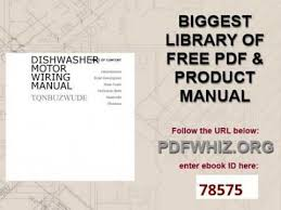 dishwasher motor wiring manual dishwasher motor wiring manual