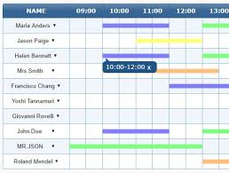 Timetable Creator Json Canvas Based Time Table Generator Jquery Timetable