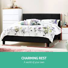 NEW-Queen-Size-NEO-Bed-Frame-PU-Leather-