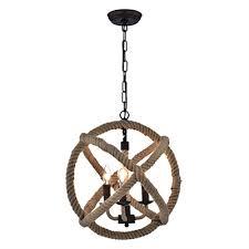 warehouse of tiffany twirlie 3 light hemp rope chandelier