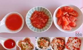 ĂN DẶM KIỂU NHẬT-THỰC ĐƠN 5 MÓN NGON VỚI CÀ CHUA THEO TỪNG GIAI ĐOẠN ĂN DẶM  CỦA BÉ - KVBro-Nhịp sống Nhật Bản